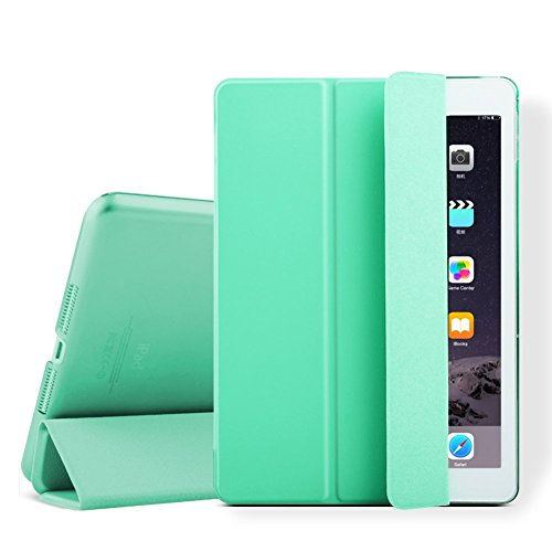 iPad mini Case, iPad mini 2 Cover, Supstar Slim-Fit Folio with Auto Wake/Sleep Smart Stand Magnetic PU Leather Hard Case for Apple iPad mini 1/2/3 - Mint Green