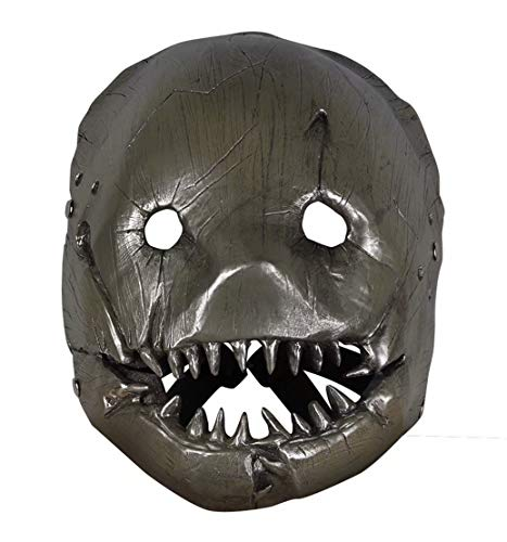 Hot Game Horror Elements Butcher Mask for Cosplay Party Gray -