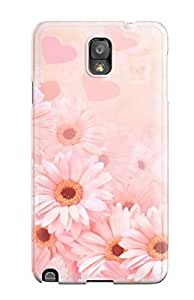 Flexible Tpu Back Case Cover For Galaxy Note 3 - Pretty Daisies