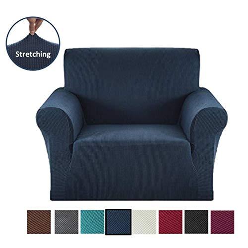 Argstar Jacquard Armchair Slipcover Soft Elastic Navy Blue