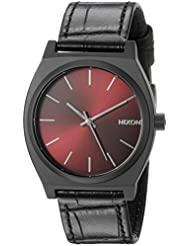 Nixon Mens A0451886 Time Teller Analog Display Japanese Quartz Black Watch