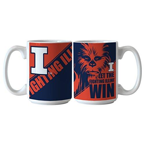 - NCAA Illinois Fighting Illini Star Wars Sublimated Coffee Mug, 15-ounce, 2-Pack