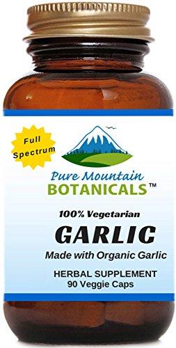 Full Spectrum Garlic Pills. 90 Kosher Veggie Capsules With 500mg Certified Organic Garlic Bulb Supplement