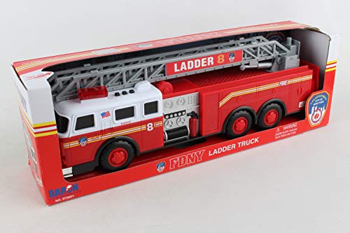 - Daron FDNY Ladder Truck with Lights and Sound