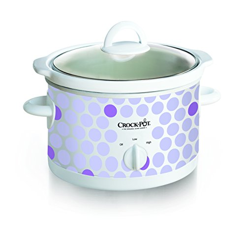 Crock Pot 2-1/2-Quart Slow Cooker, Polka Dot Pattern (SCR250-POLKA) (Small Slow Cooker)