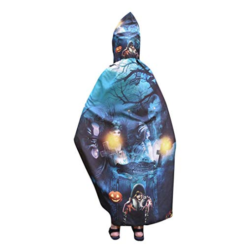 SCSAlgin Kid Baby Boys Girl Halloween Letter Print Wings Shawl Scarves Poncho Costume Accessory (Navy -B, One Size) -