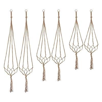 Indoor Hanging Planter Holder, Plant Hangers – 6 Packs, 3 Sizes