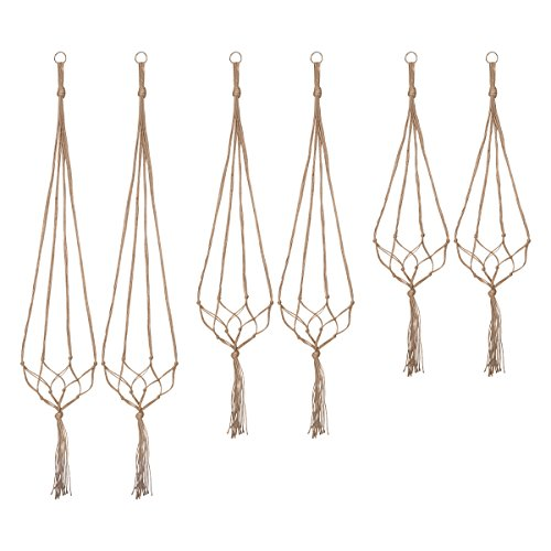 Indoor Hanging Planter Holder, Plant Hangers – 6 Packs, 3 Sizes