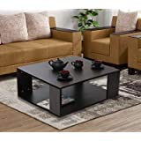 ComfyBean - Paola - Engineered Wood - Coffee Table - Modern Design - Elegant Finish (Color - Dark Wenge)