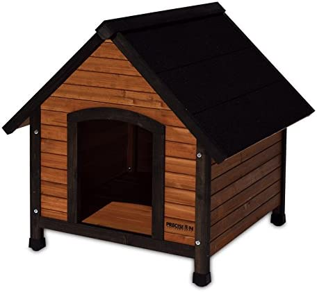 Precision Pet Extreme Outback Country Lodge Brown Black Wood Stainless Steel Dog House