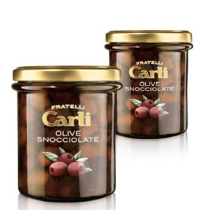 Carli Stoned Olives. Two 270 Gram (9.5 oz.) jars.