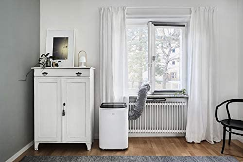 AEG AWK03 Premium Window Kit (Easy to Install, Window Seal Set, Extendable, Textile Seal, Suitable for all Portable Air Conditioners with 15 cm Hose Diameter, Grey/white)