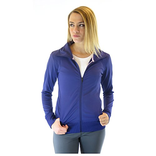 Alex+Abby Plus-Size Essential Full Zip Jacket 2X-Large Blast Purple