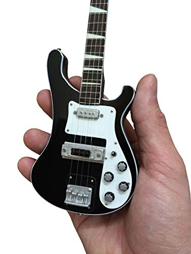 Fan Merch Signature 4001 Black Miniature Bass Guitar Replica Collectible ()