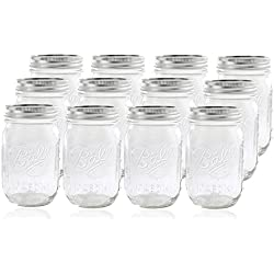 Ball Mason Jar with Lid, Pack of 12