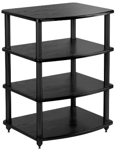 PLATEAU SE-A4 BB Wood and Metal Audio Stand, Black Oak Finish by Plateau