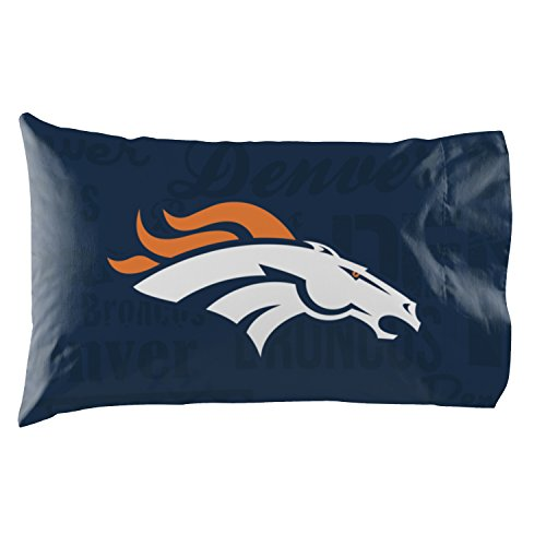 - NW Denver Broncos - Set of 2 Pillowcases - NFL Football Bedroom Accessories