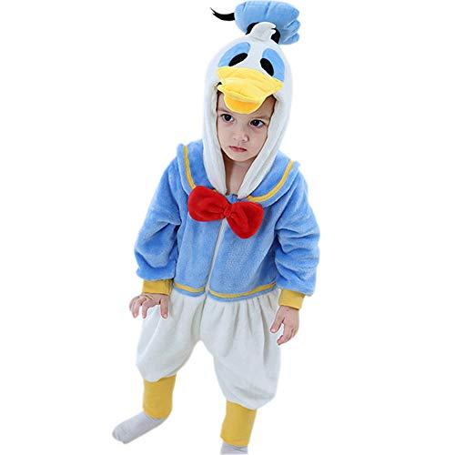 Baby Girl Flannel Romper Animal Onesie Costume Hooded Cartoon Outfit Suit (Blue, 24-30 -