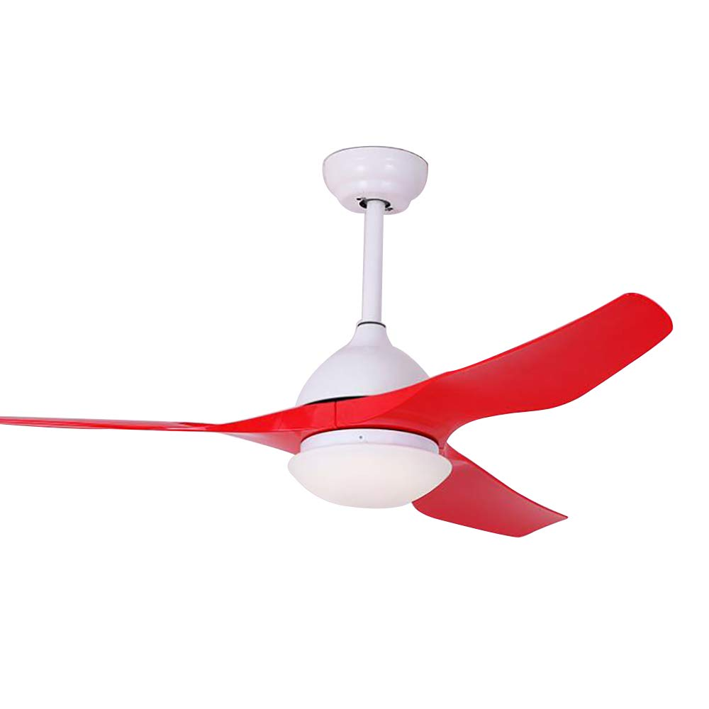 Toym uk 52 inch led ceiling fan light frequency conversion motor with lamp ceiling fan bedroom dining room ceiling fan light color red amazon co uk