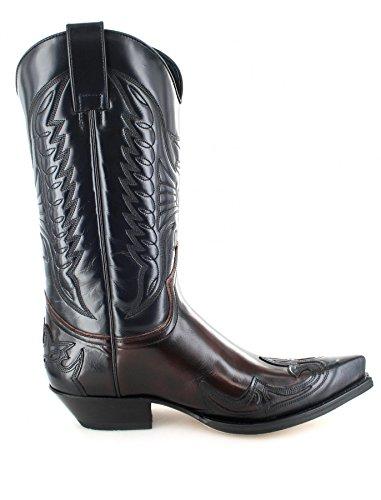 Sendra Boots 13170 Marron Tang Leren Laarzen Voor Vrouwen En Mannen Bruine Westelijke Laarzen Negro Cherry