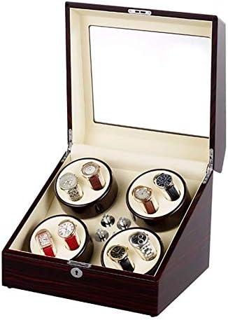上げ機 8ウォッチ自動巻きボックス静かなモーター収納ケースの表示ボックス5の回転モードを備えたロックピアノは、ウォッチワインダーペイント 腕時計ワインディングマシーン