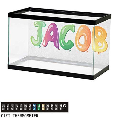 Jinguizi JacobAquarium BackgroundBalloon Font Design Widespread Traditional Male Name Cheerful Digital Boyish Design60 L X 24