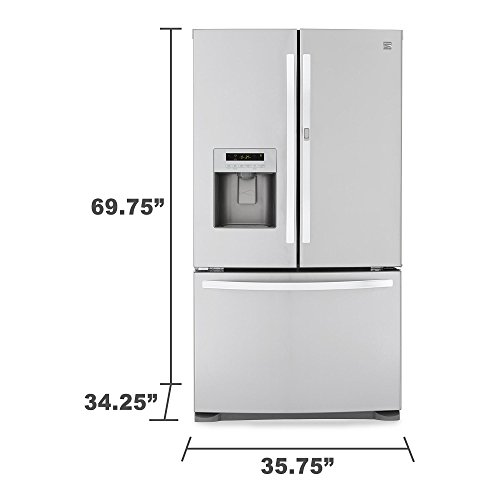 Kenmore 70333 23.9 cu. ft. French Door Bottom-Freezer Refrigerator w/Grab-N-Go Door - Stainless Steel