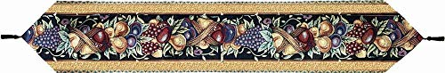 Manual Table Runner, Old World Italy Woven Tapestry with Tassels