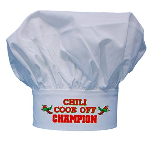 CoolChefHats Chili Cook Off Champion Chef Hat, White, One Size Fits All