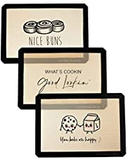 Happy Homes Market, Silicone Baking Mat, Non-Stick, Professional Grade Quality Baking Mat, Food Safe, BPA Free, Reusable, Eco-Friendly, Luxury Baking Sheet Liner