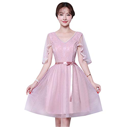 5b9063481ddc Rosa Disponibili Sera Elegante Dazisen 5 Festa Nozze Stili Damigella  DonnaFormale Vestito Per D onore Da Abito ...