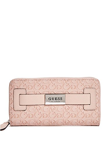 Guess Pink Leather Strap - GUESS Factory Women's Lucio Embossed Zip-Around Front Strap Wallet