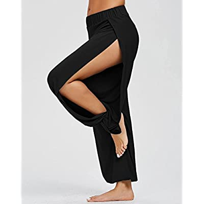 AvaCostume High Slit Harem Pants Women Hippie Harem Pants Trousers at Women's Clothing store