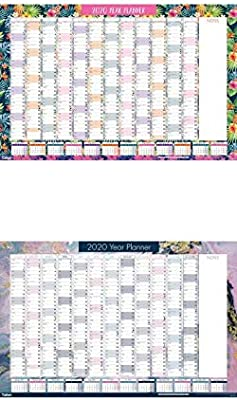FREE Desk Calendar 2020 Yearly Planner Annual Wall Chart Year Planner in PINK