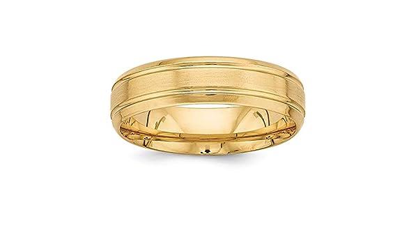 Lex /& Lu 10k Yellow Gold 6mm LTW Half Round Band Ring