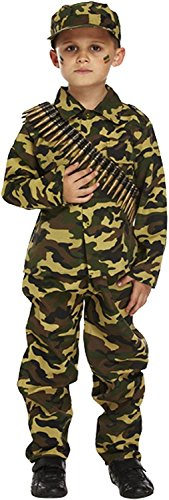 Henbrandt Child Army Military Camouflage Fancy Dress Costume (7-9 (Military Fancy Dress Costumes)