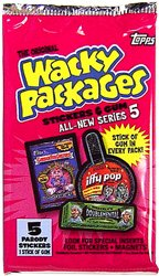 2007 Topps Wacky Packages Series 5 Unopened Pack (5 cool parody stickers per pack) (2007 Wacky Packages)