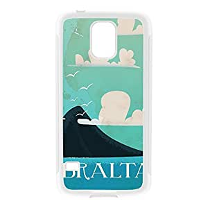 Gibraltar White Silicon Rubber Case for Galaxy S5 by Nick Greenaway + FREE Crystal Clear Screen Protector