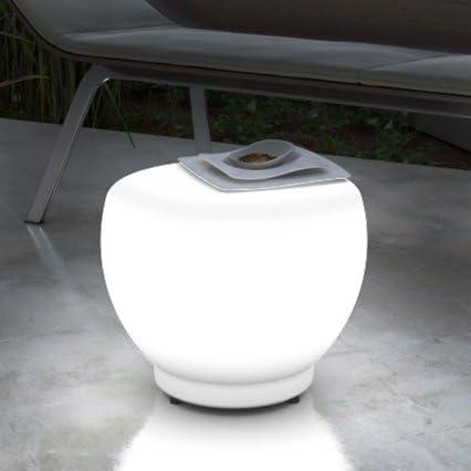 Grandecoracion.com Mesa Auxiliar con luz LED para Exterior - Interior: Amazon.es: Jardín