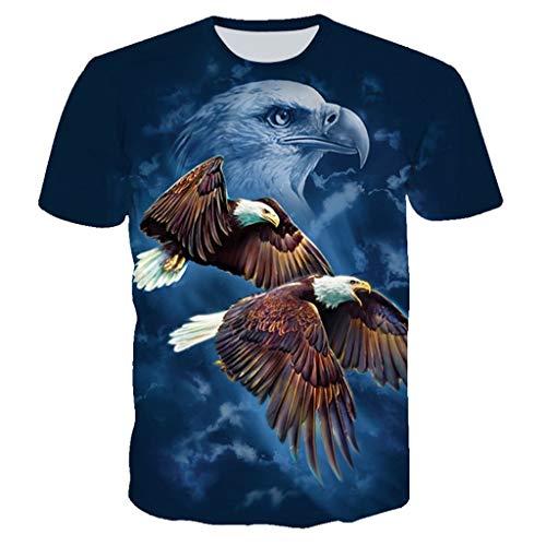 Manche Blouse Chemise Humour Hauts Feixiang 3d Rond Homme Printemps Courte Été Tops Mode T Bleu Pullover Casual D'amusement Imprimé Col 2 shirt T028 7qw6AT7H