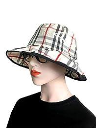 Women's Waterproof Foldable Water Repellent Quilted Rain Hat Bucket Cap
