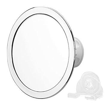 Charmax Fogless Shower Mirror Bonus Razor Holder No Fog Shaving For Bathroom