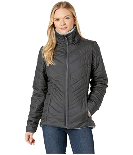 Fleece Reversible Jacket - The North Face Women's Mossbud Insulated Reversible Jacket Asphalt Grey/Mid Grey Small