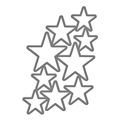 Spellbinders S5-244 Shapeabilities Dies-Cascading Stars