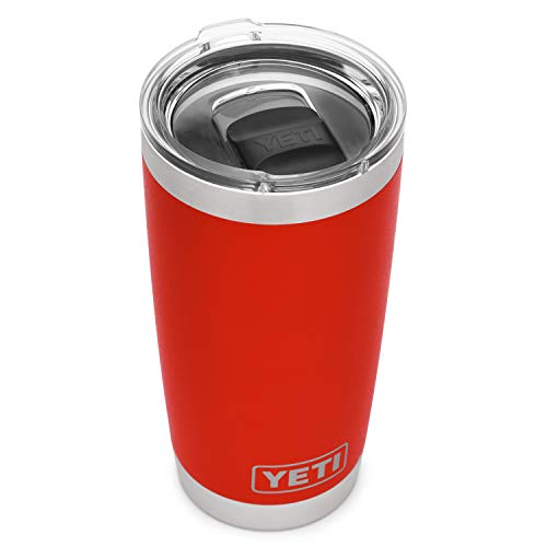 YETI Rambler 20 oz Stainless Steel Vacuum Insulated Tumbler w/MagSlider Lid, Canyon Red