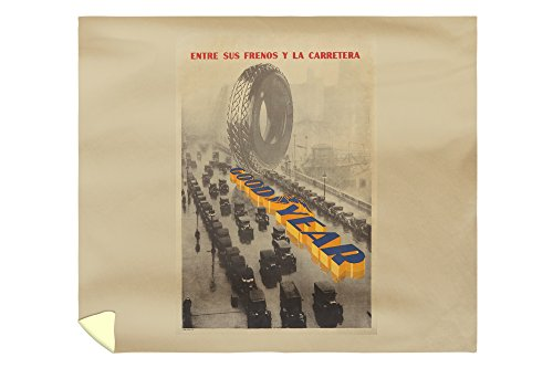 Goodyear Vintage Poster (artist: Anonymous) Spain c. 1915 (88x104 King Microfiber Duvet Cover) by Lantern Press