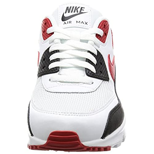 on sale 32594 11b13 on sale Nike Air Max 90 Essential Men Lifestyle Casual Sneakers New White  Red Black