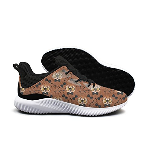 Owl With Glasses Leisure Design Running Shoes Woman Cool Cool Cute 6 size by SERXO