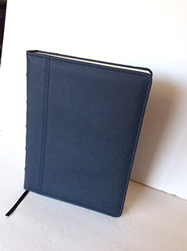 Leatherette Journal (Markings by C.R. Gibson - Jumbo Navy Blue Leatherette Journal - Ruled, 7