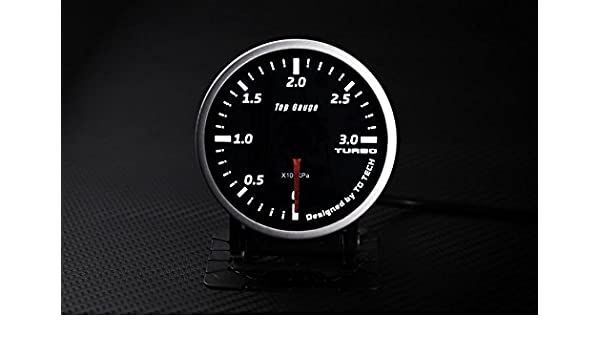 (1) 60 mm steppermotor calibre Diesel Boost Turbo 3 bar Meter humo LED: Amazon.es: Coche y moto